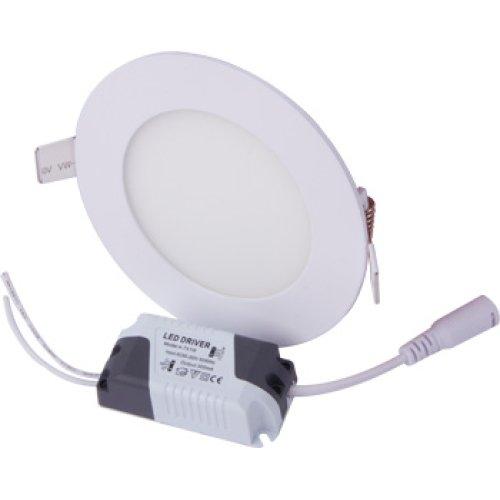 Фото Светильник круг светодиодный встраиваемый 6Вт 4500К 420Лм e.LED.MP.Round.R.6.4500 Электробаза
